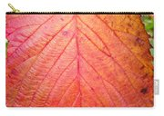 Red Blackberry Leaf Carry-all Pouch