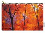 Red Blaze Carry-all Pouch by Nancy Merkle