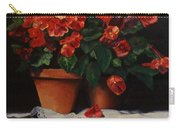 Red Bloom In Terracotta Carry-all Pouch