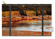 Red Boat At Low Tide Triptych Carry-all Pouch