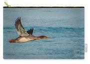 Red Breasted Merganser In Flight Carry-all Pouch