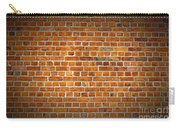 Red Brick Wall Texture With Vignette Carry-all Pouch