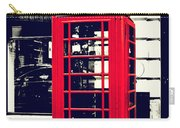 Red British Telephone Booth Carry-all Pouch