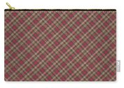 Red Brown And Green Diagonal Plaid Pattern Fabric Background Carry-all Pouch