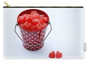 Red Bucket Of Hearts Carry-all Pouch