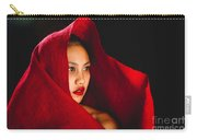 Red Burlap Carry-all Pouch