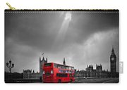 Red Bus Carry-all Pouch by Svetlana Sewell
