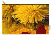 Red Butterfly On African Marigold Carry-all Pouch