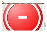 Red  Button Minus Carry-all Pouch