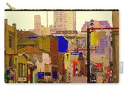 Red Cab On Gerrard Chinatown Morning Toronto City Scape Paintings Canadian Urban Art Carole Spandau Carry-all Pouch