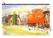 Red Caboose At Whistle Junction Ironton Missouri Carry-all Pouch by Kip DeVore