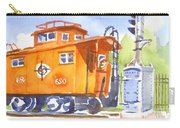 Red Caboose With Signal  Carry-all Pouch