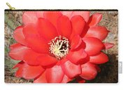 Red Cactus Flower Square Carry-all Pouch