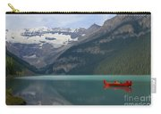 Red Canoes On Lake Louise Carry-all Pouch