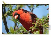 Red Cardinal In Springtime Carry-all Pouch