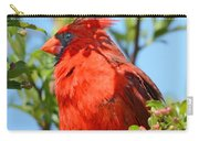 Red Cardinal Pink Blooms Carry-all Pouch