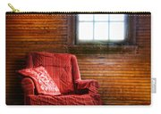 Red Chair In Panelled Room Carry-all Pouch