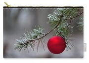 Red Christmas Ball Branch Carry-all Pouch