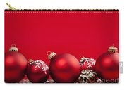 Red Christmas Baubles And Decorations Carry-all Pouch by Elena Elisseeva