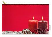 Red Christmas Candles Carry-all Pouch by Elena Elisseeva