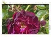Red Climbing Rose Carry-all Pouch