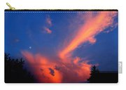 Red Clouds In The Evening Carry-all Pouch
