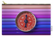 Red Compass On Rolls Of Colored Pencils Carry-all Pouch
