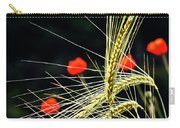 Red Corn Poppies Carry-all Pouch by Heiko Koehrer-Wagner