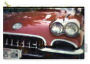 Red Corvette With Trees Carry-all Pouch