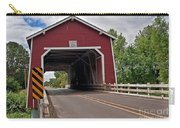Red Covered Bridge Shimanek Art Prints Carry-all Pouch