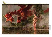 Red Dragon And Nude Bather Carry-all Pouch