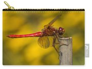 Red Dragonfly Waiting Carry-all Pouch
