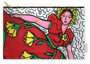Red Dress With Yellow Roses Carry-all Pouch
