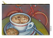 Red Dutch Bicycle With Cappuccino And Amaretti Carry-all Pouch
