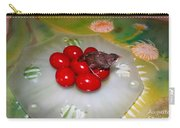 Red Eggs Bird And Flowers Carry-all Pouch