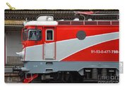 Red Electric Train Locomotive Bucharest Romania Carry-all Pouch
