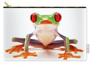 Red-eye Tree Frog 2 Carry-all Pouch by Lanjee Chee