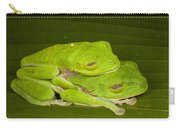 Red-eyed Tree Frogs In Amplexus Sleeping Carry-all Pouch