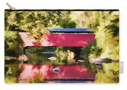 Red Fairhill Covered Bridge Carry-all Pouch