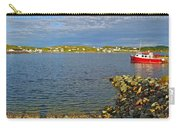 Red Fishing Boat In Twillingate Harbour-nl Carry-all Pouch