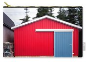 Red Fishing Shack Pei Carry-all Pouch by Edward Fielding