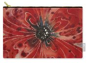 Red Flower 1 - Vibrant Red Floral Art Carry-all Pouch by Sharon Cummings