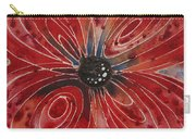 Red Flower 2 - Vibrant Red Floral Art Carry-all Pouch