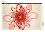 Single Red Flower Carry-all Pouch