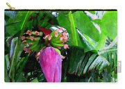 Red Flower Of A Banana Against Green Leaves Carry-all Pouch