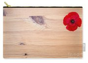 Red Flower On Wood  Carry-all Pouch
