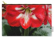 Red Flower With Starburst Carry-all Pouch