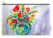 Red Flowers In A Vase Carry-all Pouch