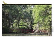 Red Footbridge Over Green Water Carry-all Pouch