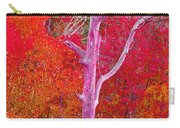 Pink Tree In A  Red Forest Carry-all Pouch